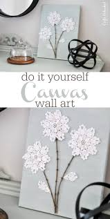 Diy Shabby Chic Home Decor by Diy Canvas Wall Art Shabby Chic Flowers Crafts Unleashed