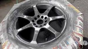 how to paint rims with rustoleum wheel paint part 2 paint and clear you