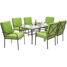 Patio Furniture 7 Piece Dining Set - best choice products outdoor patio furniture 7 piece steel dining tabl