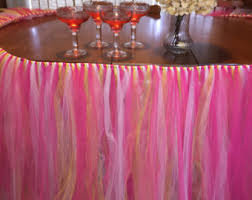 Pink Table Skirt by Pink Table Tutu Skirt Birthday Table Decoration Baby Shower