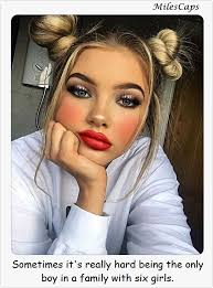 sissies with feminine hairstyles stories outnumbered sissy make up pinterest captions tg captions