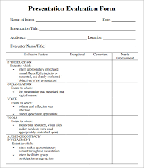 presentation review template free performance review template form