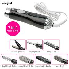 Hair Dryer And Straightener 7 in 1 professional styling tool electric curler hair dryer