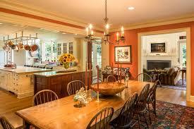 Philadelphia Burnt Orange Paint Dining Room Traditional With - Burnt orange dining room