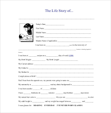 biography template 20 free word pdf documents download free