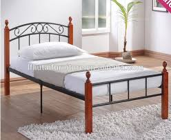 Wood And Metal Bed Frames Size Metal Bed Frame With Wood Stand View Size Bunk