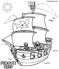 pirate ship coloring page cute with images of pirate ship