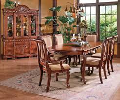 american drew cherry grove 9 piece dining room set in maeve 7