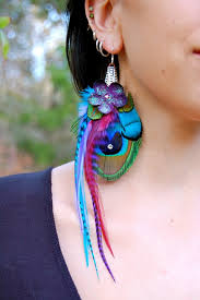 one side feather earring 21 ways to wear feathers styles weekly