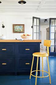 blue painted kitchen cabinet ideas how to pull a powder blue kitchen martha stewart