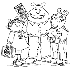 arthur friends cute coloring page wecoloringpage