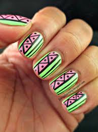 nail art green colour glamour nail salon notd ikat nail design