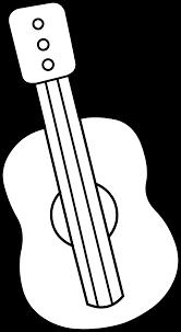 cute mini guitar coloring page free clip art