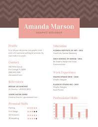 Resume Graphic Graphic Designer Resume Clean Cv Resume By Estart On