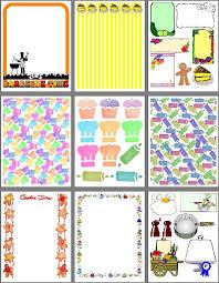 printable recipe scrapbook designs for food scrapbooking