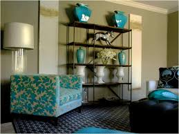 teal living room furniture brown gray teal and yellow living room