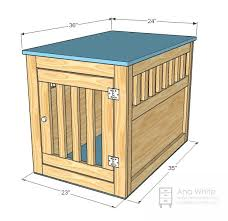 Free Plans To Build End Tables by Best 25 Dog Crate End Table Ideas On Pinterest Diy Dog Crate
