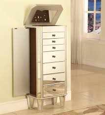 Mirrored Bedroom Furniture Ideas Bedroom Astounding Mirrored Jewelry Cabinet With Gorgeous Wall
