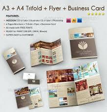 stunning tri fold business cards card design brochure bundles