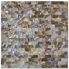 art3d peel and stick mother of pearl white shell mosaic tile for