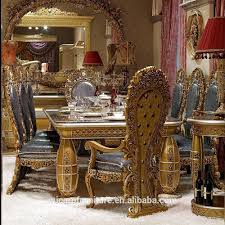 european classic style elegant antique gold wooden dinning room