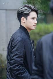 popular kpop hair colours seventeen mingyu s half dyed hair kpop korean hair and style