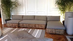 canapé tressé canape tresse exterieur maison design wiblia com