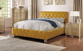 button tuck headboard beds citrus faux leather button tufting headboard bed