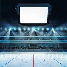 hockey stadium with fans and sports arena blank text cube space s shutterstock 274736498