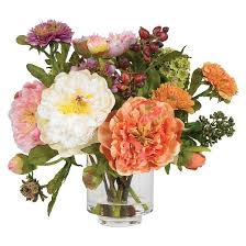 artificial peonies nearly peony silk arrangement target