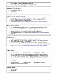 An Example Of Resume by Resume Simple Format How To Write Volunteer Work On A Resume