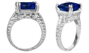 groupon engagement ring 7 cttw sapphire and ring groupon goods
