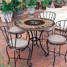 36 Patio Table Knf Garden Designs Knf Mosaic Bistro Table 36