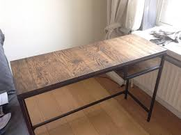 Hacker Table Vittsjö Laptop Table Upgrate To Industrial Style Bureau Ikea Hackers