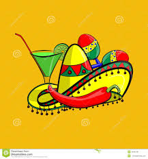 margarita time clipart margarita with sombrero jalapeno and maracas eps 10 grouped for
