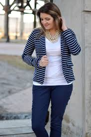 navy blue and white stripes by lauren m