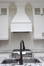 bevelled subway tile with bm mascarpone kitchen cabinets