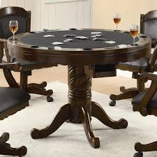 coaster turk 3 in 1 round poker table walmart com