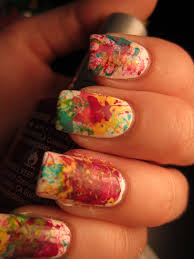 jessica u0027s nail art splatter nail art tutorial
