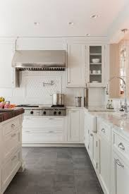 white kitchen cabinets and floors gray floor white cabinet ideas houzz