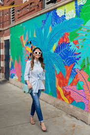 128 best murals street art images on pinterest miami murals tie front button down shirt at a tropical leaf mural in chicago