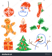 christmas ornaments clipart snowman pencil and in color