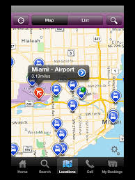 Mia Airport Map Tipoa Rental Car At Miami Airport Mia