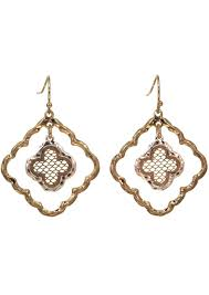 nickel free earrings gold rhodium plated stainless steel earrings filigree celtic