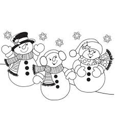 coloring page snowman family snowman family coloring pages vitlt com