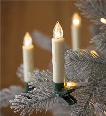 clip on tree candle lights set of 10 lighting