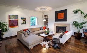 Cowhide Rug Living Room Ideas L Shaped Living Room With Fireplace And Cowhide Rug Also Wood