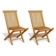 chaises pliables prix lot de 2 chaises pliables en teck amazonia naturel