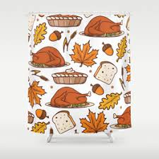 thanksgiving shower curtains society6