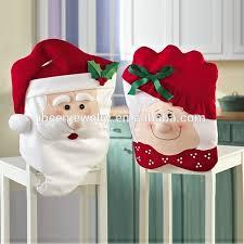 santa chair covers festival party christmas fleece flet santa claus design